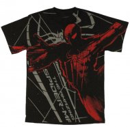 <img class='new_mark_img1' src='https://img.shop-pro.jp/img/new/icons61.gif' style='border:none;display:inline;margin:0px;padding:0px;width:auto;' />【生産終了激レアデザイン】Amazing Spiderman Stencil T Shirt Marvel Comic アメージングスパイダーマン Tシャツ アメコミ マーベルコミック