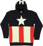 キャプテンアメリカ マスク風フード付きパーカー アメコミ マーベル DCコミック