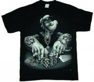 【生産終了】マイケルジャクソン映画内着同デザインポパイ Tシャツ Popeye正規ライセンス