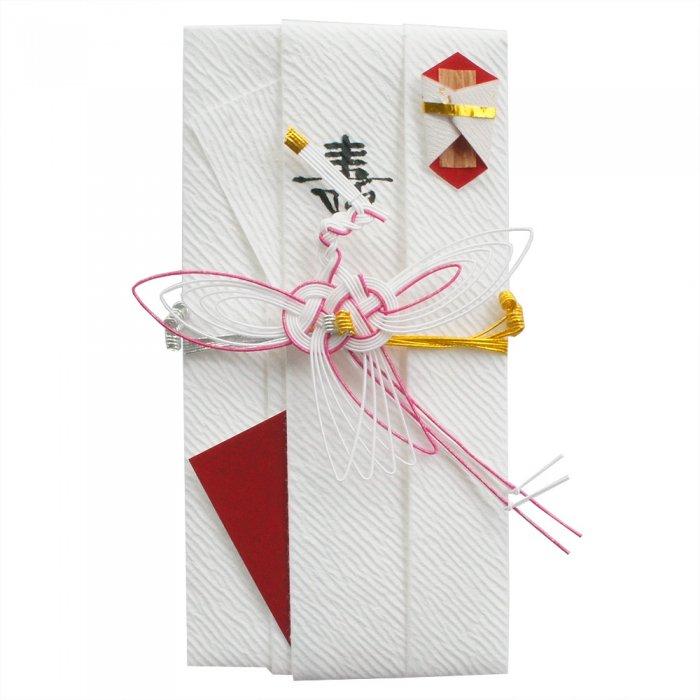 sm0033糸鶴の祝儀袋 (ピンク)