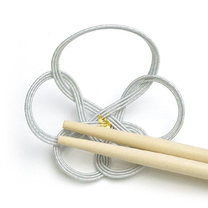 ko0119一輪梅の水引箸置き ホワイト