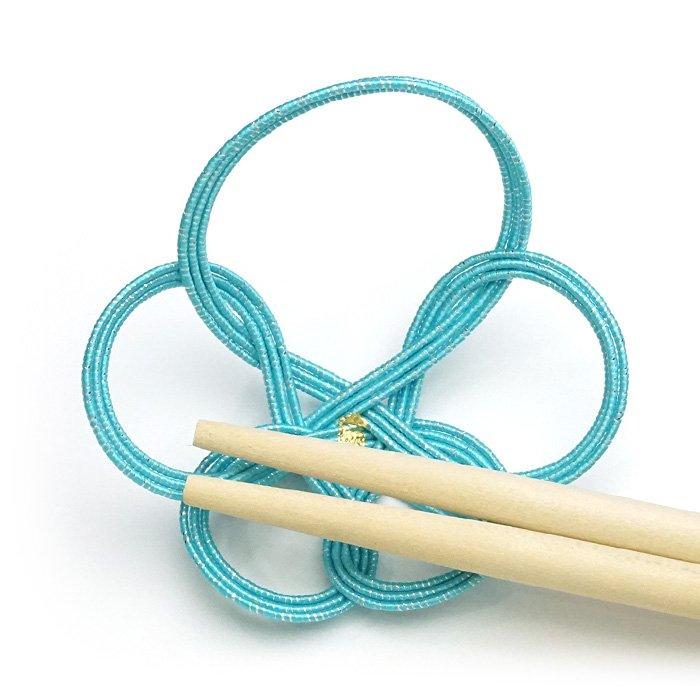 ko0122一輪梅の水引箸置き ブルー