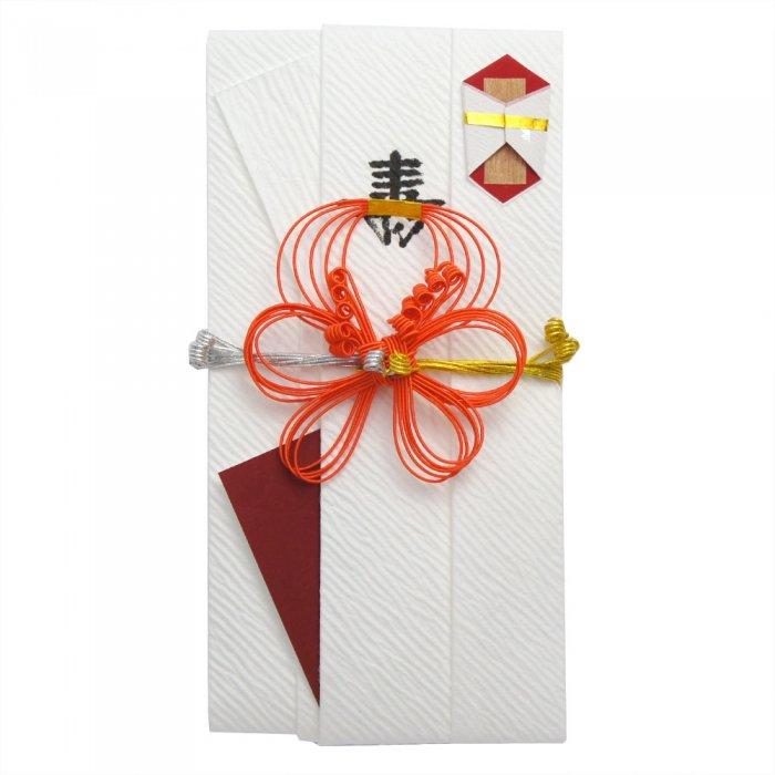 sm0036結び梅の祝儀袋 オレンジ
