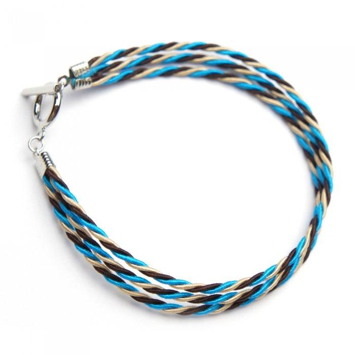 ac0014水引ブレスレット(トリプルラップ)IOマンテル ブルー