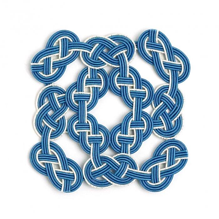 co0150水引コースター ブルー(masu)