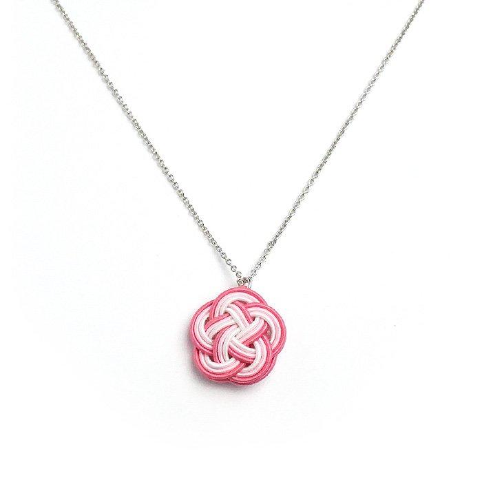 ko0220水引ネックレス 花 ピンク