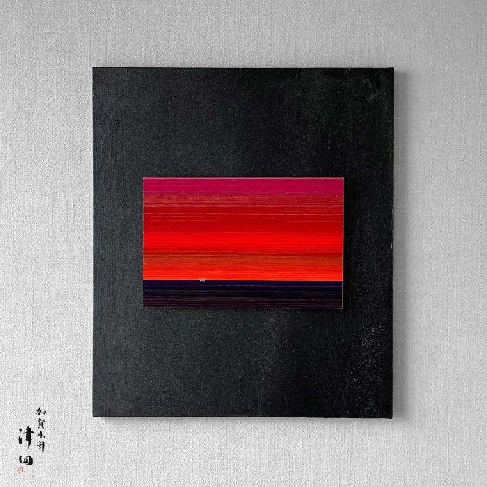 ko0207 水引壁掛けパネル レッド(黒パネル 大 横45.5cm×縦53cm)