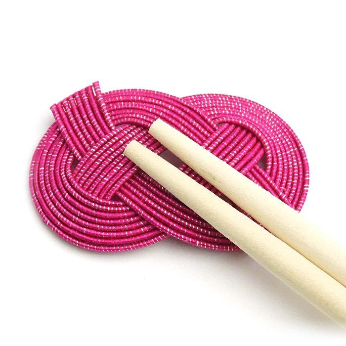 ko0243あわじ結びの水引箸置き ピンク