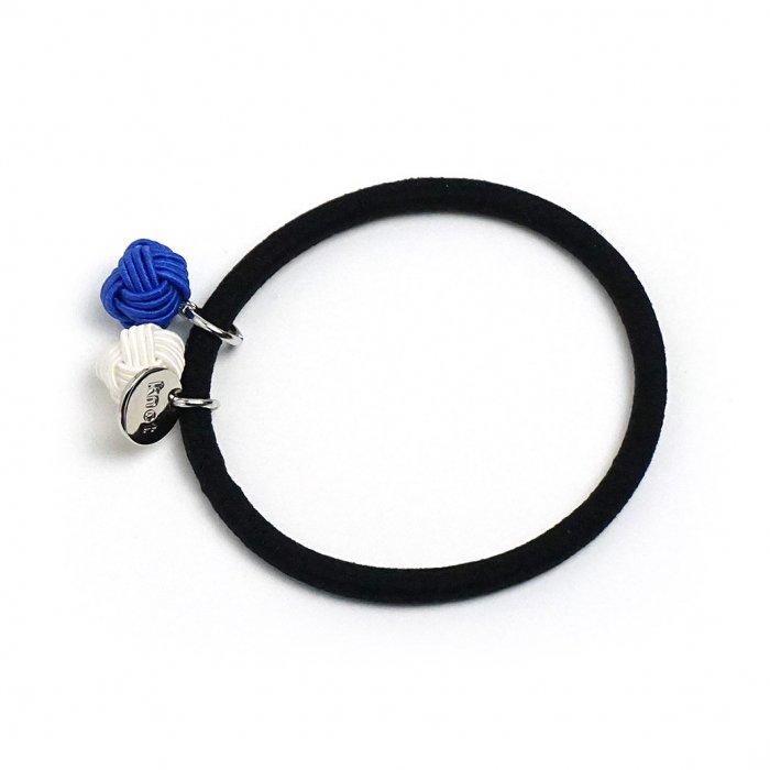 ac0208水引ヘアゴム 玉ダブル ブルー