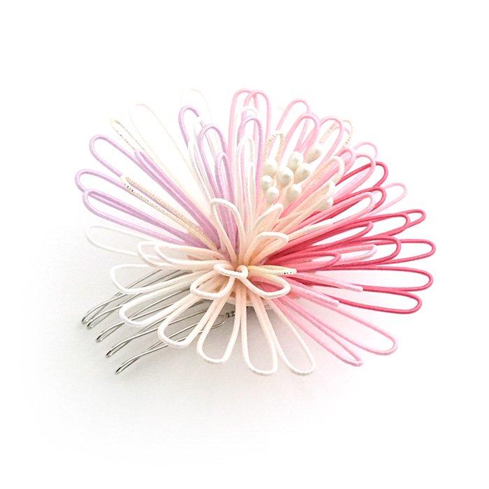 ha0102ポンポン菊のかんざし 大 ピンク