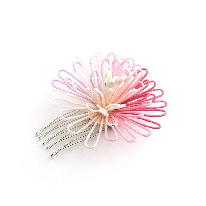 ha0103ポンポン菊のかんざし 小 ピンク