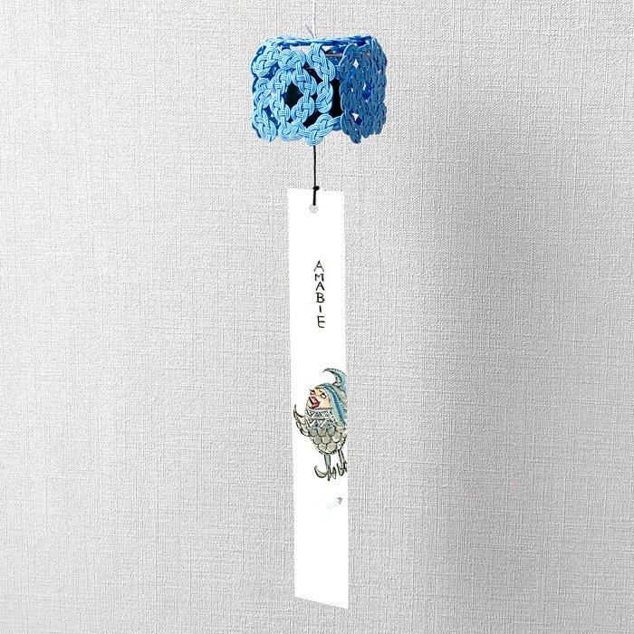 ko0271加賀水引風鈴 キューブ ブルー(sora)