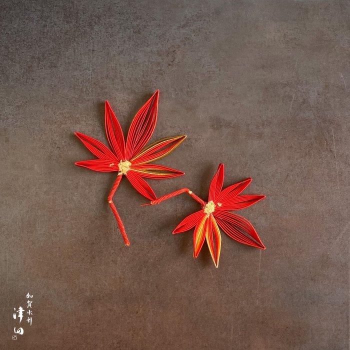 ko0280水引紅葉(秋のもみじ)