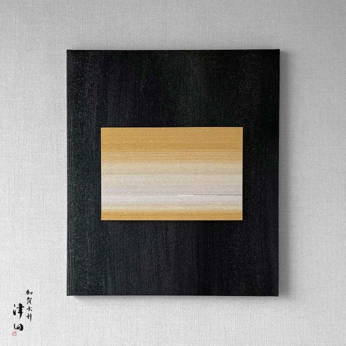 ko0292 水引壁掛けパネル ゴールド(黒パネル 大 横45.5cm×縦53cm)