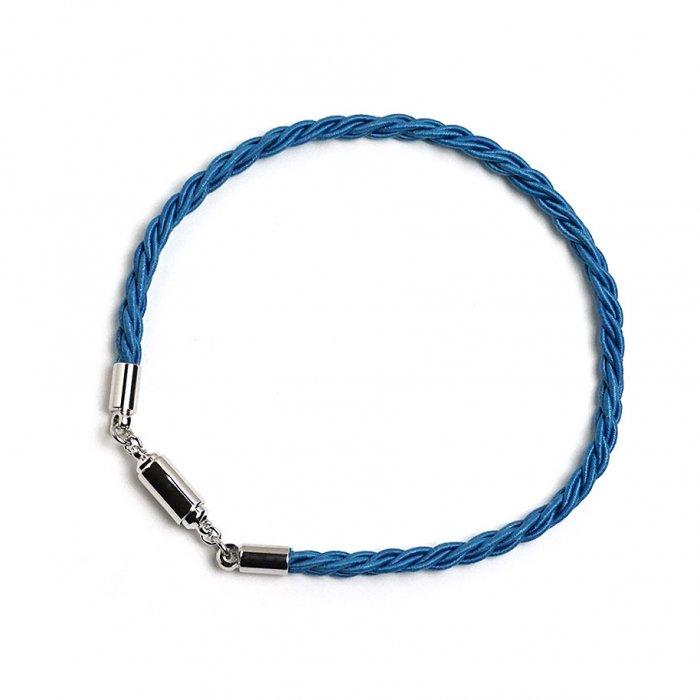ac0353水引ブレスレット(シングルラップ) マグネット  ブルー(masu)