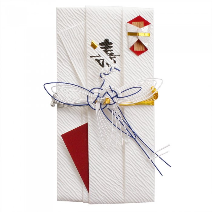 sm0013糸鶴の祝儀袋 (青)