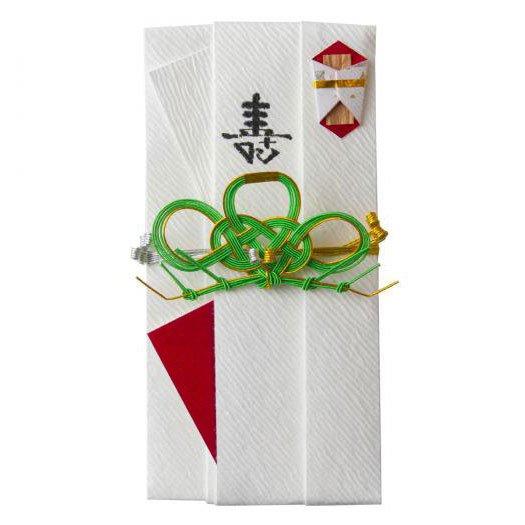 sm0016三階松の祝儀袋 (淡緑)