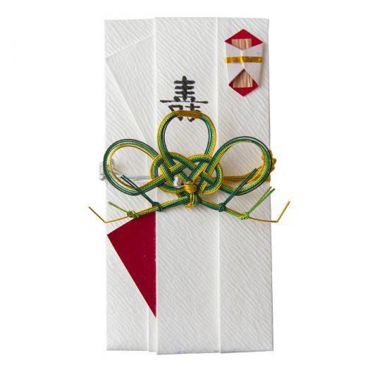 sm0017三階松の祝儀袋 (深緑)