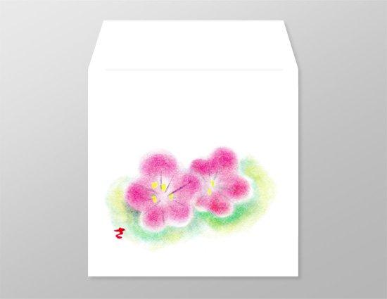 wh0016二つ梅の和封筒