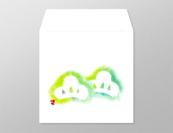 wh0017二つ松の和封筒