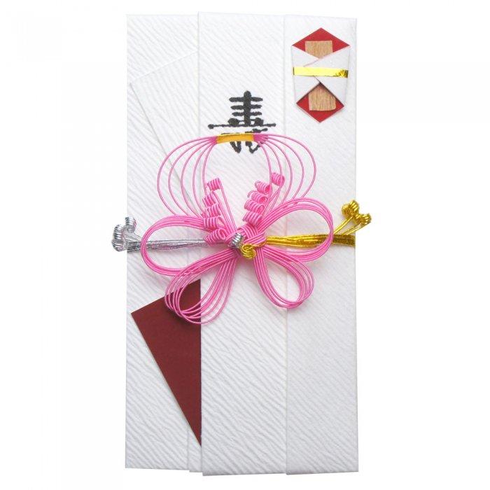 sm0011結び梅の祝儀袋 ピンク