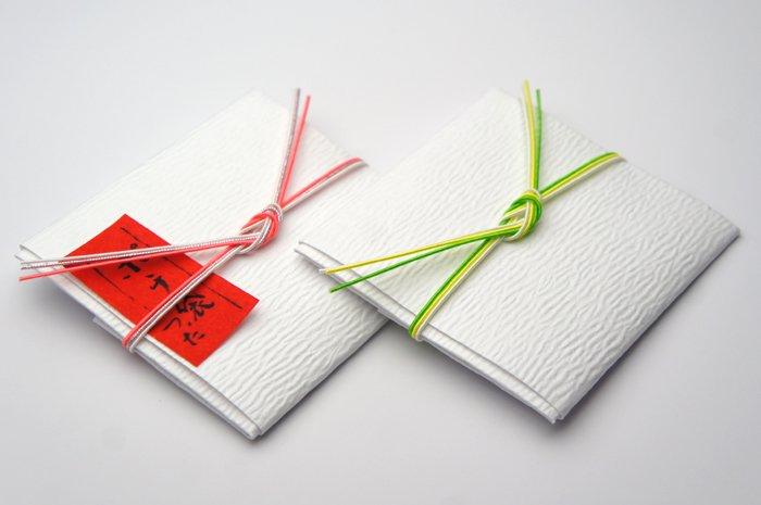 ss0033ポチ袋 ピンクと黄緑 2個セット