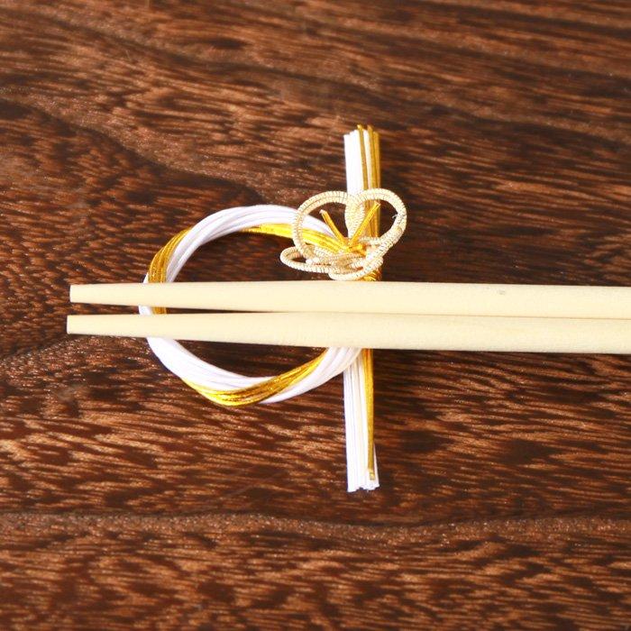ko0065梅飾りの水引箸置き 金×白