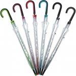 ノベルティ・粗品で人気の「長傘 ビニール・ノンスリップ傘(6色均等数) 1個」