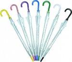 ノベルティ・粗品で人気の「長傘 ビニール・透明ジャンプ 60cm(カラー) 1個」