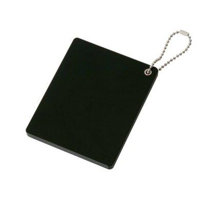 ノベルティ・粗品で人気の「 スライドアクリルミラー スクエア/ブラック」