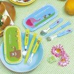ノベルティ・粗品で人気の「 ピクニックアニマル 箸・フォーク・スプーンセット 1個」