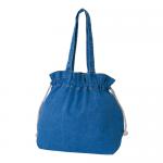 ノベルティ・粗品で人気の「 ライトデニム巾着トート(M)/ウォッシュブルー」