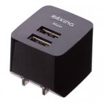 ノベルティ・粗品で人気の「USBコンセントチャージャー2.1A 2ポート/ブラック」