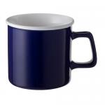 ノベルティ・粗品で人気の「陶器マグストレート ラウンドリップ/ブルー」