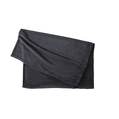 ノベルティ・粗品で人気の「フリースブランケット(巾着付)/ブラック」