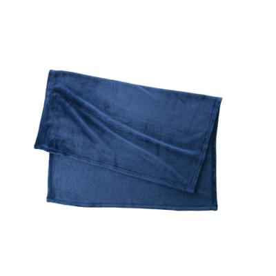 ノベルティ・粗品で人気の「フリースブランケット(巾着付)/ネイビー」