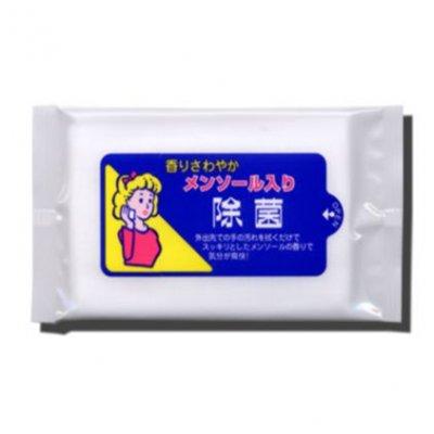ノベルティ・粗品で人気の「【国産】メンソール入り除菌ウェット 10枚入/ホワイト」