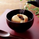 ノベルティ・粗品で人気の「最中海藻スープ のど黒・飛魚  1個」