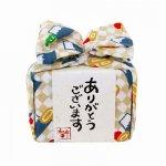 飴とハンカチのプチギフト☆あめはん/市松に富士山