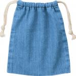 ノベルティ・粗品で人気の「デニム巾着(S)/ヴィンテージブルー」