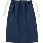 ノベルティ・粗品で人気の「デニム巾着(M)/インディゴ」