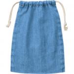 ノベルティ・粗品で人気の「デニム巾着(M)/ヴィンテージブルー」