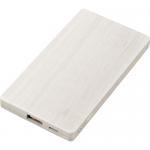 ノベルティ・粗品で人気の「 木目調モバイルチャージャー3000/ホワイト」