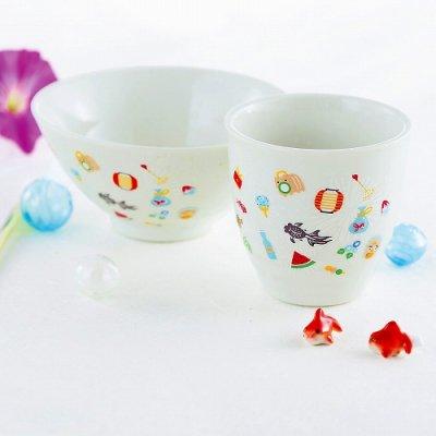 ノベルティ・粗品で人気の「【国産】お祭り・茶碗&湯呑セット 1個」