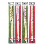 和膳セット 白竹 四季の花 ききょう