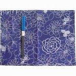 ノベルティ・粗品で人気の「若狭塗箸&ランチョンマットセット 紺花 染かすり 青」