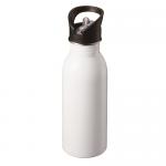 ストロー付ステンレススポーツボトル 昇華転写対応/ホワイト