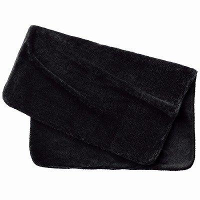 ノベルティ・粗品で人気の「ボアフリースブランケット(巾着付)/ブラック」
