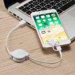 ノベルティ・粗品で人気の「リール式USBケーブル(タイプC対応)(ホワイト)」