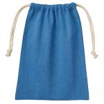 ノベルティ・粗品で人気の「シャンブリック巾着(M) ブルー」